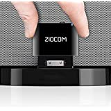 ZIOCOM 30 Pin Bluetooth Adapter Receiver for iPhone iPod Bose SoundDock and Other 30 pin Dock Speakers with 3.5mm Aux Cable(Not for Car and Motorcycles),Black