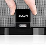 ZIOCOM Upgraded 30 Pin Bluetooth Adapter Receiver for iPhone iPod Bose SoundDock and other 30 pin Dock Speakers with 3.5mm Aux Cable(Not for Car and Motorcycle),Black