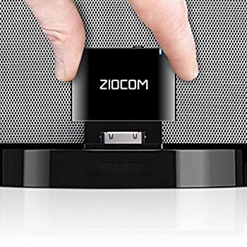 ZIOCOM 30 Pin Bluetooth Adapter Receiver for Bose iPod iPhone SoundDock and Other 30 pin Dock Speakers with 3.5mm Aux Cable Not for Car and Motorcycles ,Black