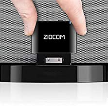 ZIOCOM 30 Pin Bluetooth Adapter Receiver for Bose iPod iPhone SoundDock and Other 30 pin Dock Speakers with 3.5mm Aux Cable(Not for Car and Motorcycles),Black
