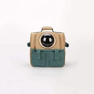 Double Shoulder Pet Cage Portable Pet Travel Bag Good Breathability and Comfort 38×26×38cm Makfacp (Color : Gold)