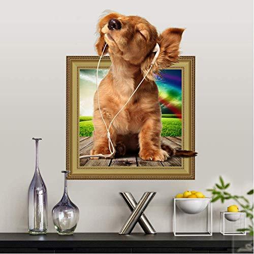 STPillow Wandstickers, muziek, honden, wandsticker, koelkast, badkamer, woonkamer, slaapkamer, huisdier, decoratie wanddecoratie