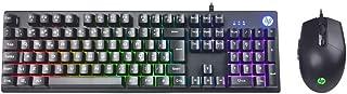 Kit Teclado + Mouse HP Gamer USB KM300F Preto - Layout ABNT2 Com Iluminação RGB Mouse 6400 DPI - 8AA01AA