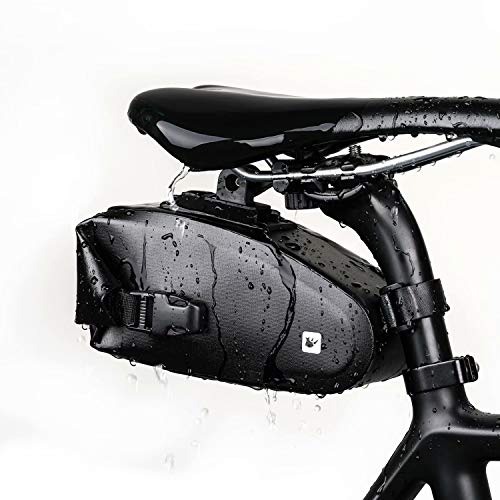 Rhinowalk Bike Saddle Bag 1.2L Waterproof Bicycle Seat Bag Mountain Road Bike Under Seat Storage Bag Cycling Accessories
