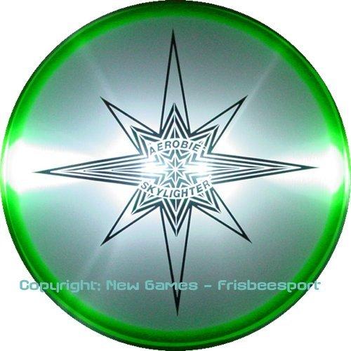 AEROBIE SKYLIGHTER Wurfscheibe 24cm LED Beleuchtung Farbe wählbar 778988182154(GRÜN)