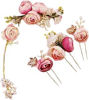 Lurrose 5 Unids En forma de U Rosa Flor de horquilla