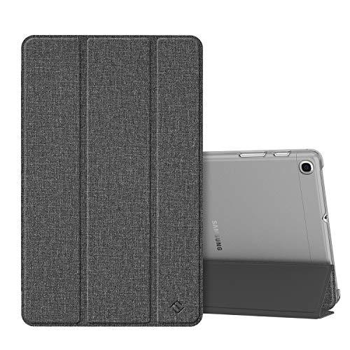 Fintie Hülle kompatibel mit Samsung Galaxy Tab A 10,1 SM-T510/T515 2019 - Superdünn Schutzhülle mit durchsichtiger Rückseite Abdeckung Cover für Samsung Tab A 10.1 2019 Tablet, Jeansoptik dunkelgrau