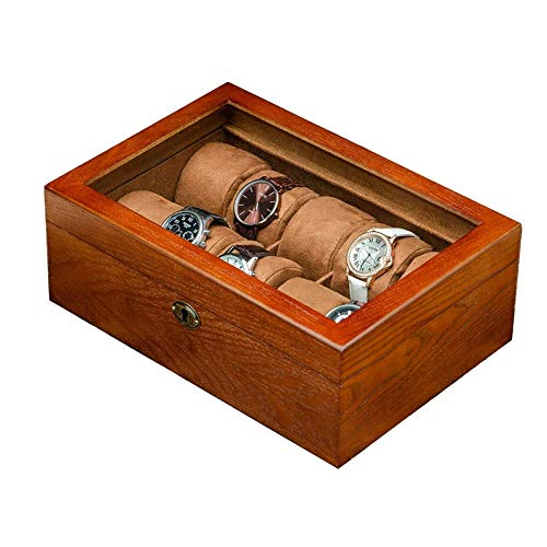Uhr Vitrine aus Holz 10 Uhr Aufbewahrungsbox & Vitrine