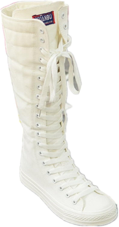 Jackdaine Punk Dance Dance Trolley Side Zipple Boots Canvas Black
