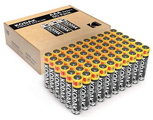 Lot de 60 Piles alcalines AAA Kodak de qualité supérieure - pour Plus de Puissance