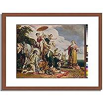 ピーテル・ラストマン「オデュッセウスとナウシカア Ulysses and Nausicaa. 1619 」 インテリア アート 絵画 プリント 額装作品 フレーム:木製(茶) サイズ:M (306mm X 397mm)