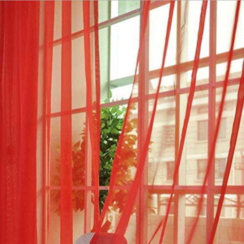 zhouweiwei Mode einfache einfarbige Tüll Tür Fenster Vorhang waschbar drapieren Platte Schiere Schal Volants durchscheinendes Design