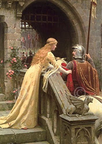 Picture Peddler God Speed Edmund Leighton Medieval Knight Romantic Poster (Choose Size, Print or Canvas)