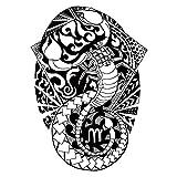 KTTO Brazo de Tatuaje Etiqueta de Tatuaje Impermeable Medio Brazo Patrón de tótem de escorpión Dibujado a Mano 6Pc / Set 14.8X21Cmx6Ps