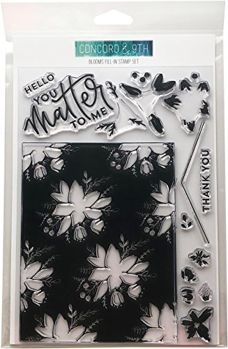 Concord & 9th Blooms Fill Clear Stamps 6'X8'
