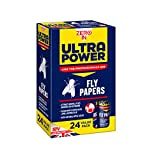 Zero In ZER508 Ultra Power Fly Papers (Poison-free, Kills Insects, Use in Homes, Outbuildings and Commercial Premises), Pack of 24, 5x9.5x15.5 cm