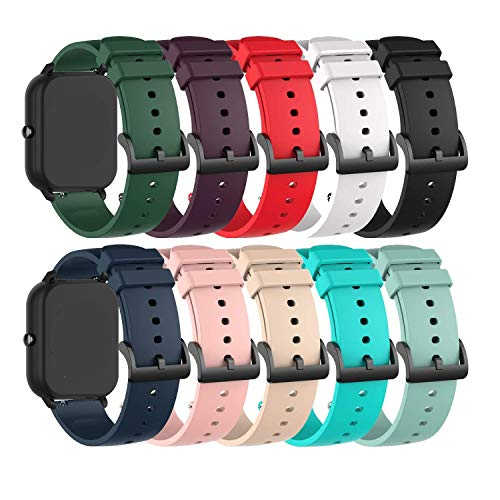 Bands Compatible for Donerton/KALINCO P22 Replacement Watch Straps Classic Soft Silicone Lightweight Breathable Quick Fit Wristband for Donerton & KALINCO P22 Smartwatch for Women Men