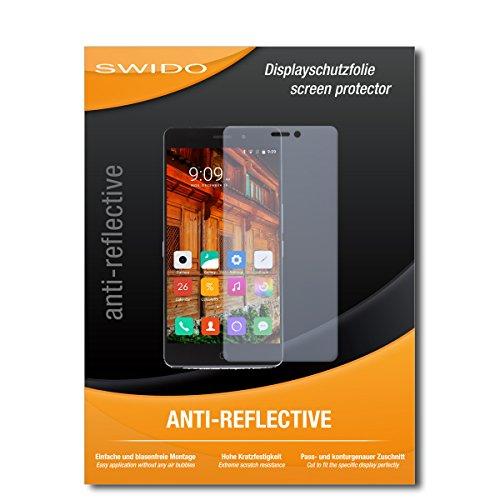 SWIDO Bildschirmschutz für Elephone P9000 Lite [4 Stück] Anti-Reflex MATT Entspiegelnd, Hoher Festigkeitgrad, Schutz vor Kratzer/Glasfolie, Schutzfolie, Bildschirmschutzfolie, Panzerglas Folie