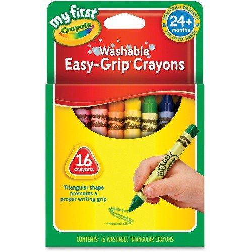 Crayola My First Washable Triangular Crayons, Wax 16 CT (Pack of 12)
