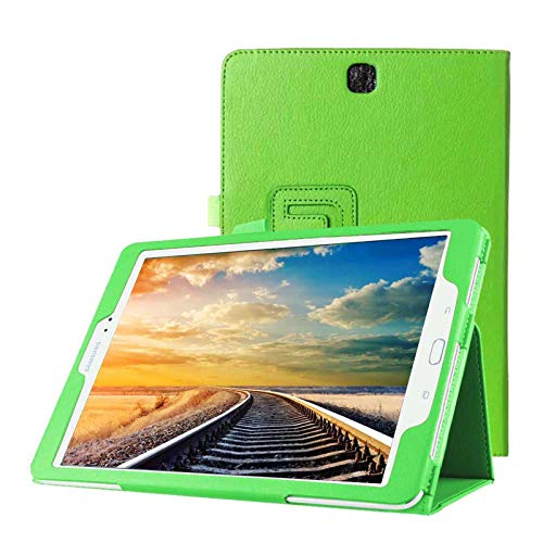 Schutzhülle für Samsung Galaxy Tab A SM-T550 T551 T555 9.7 Zoll Smart Slim Hülle Book Cover Stand Flip (Grün)