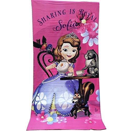 Xiaobing Toalla de baño Toalla de Playa de impresión reactiva de algodón de Dibujos Animados para niños Toalla Diaria -5-70x140cm