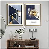 cuadros decoracion salon Nórdico abstracto patrón geométrico lienzo pintura figura estatua impresiones carteles David imágenes artísticas para sala de estar decoración moderna 19.7x27.6in (50x70cm) x