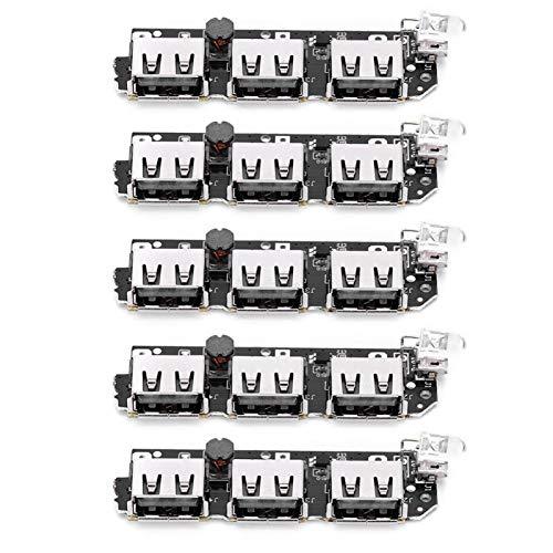 5 uds Cargador de Banco de energía 5V 2.1A componente electrónico DIY 3 Puerto de Carga para Equipo de máquina