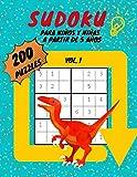 Sudoku para Niños y Niñas a Partir de 5 Años: 200 Puzzles 6x6 | Con ilustraciones para Colorear | Juego educativo De Lógica que Estimula el Aprendizaje de los Números | Volumen 1