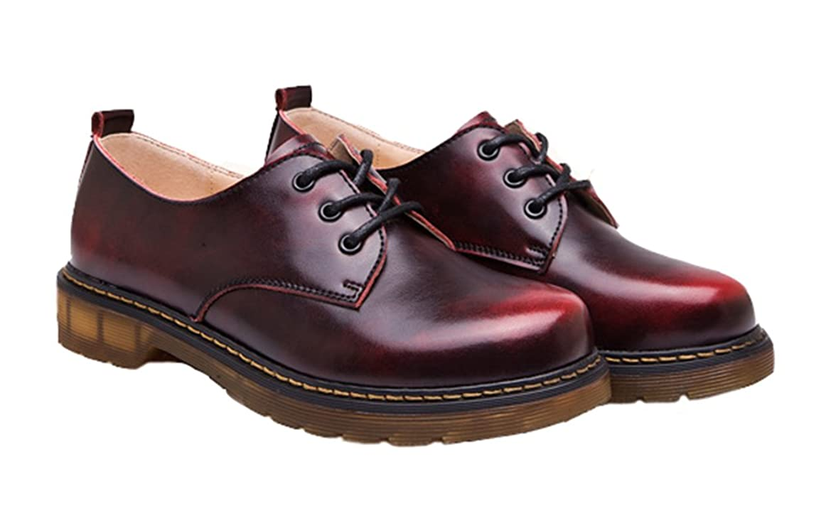 救出全能ワーディアンケース[IYHUO] レディーズ シューズ カジュアル 革靴 レース アップフラット シューズ ビンテージ女性シューズ ローカット靴