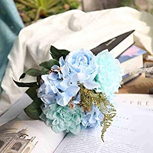 Artificial and Dried Flower Handmade Simulation Flower Bridal Flower Wedding Supplies Bride Bouquet Pink Purple Anemone Hydrangea Rose Artificial Flowers