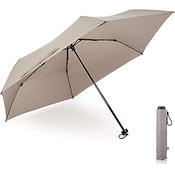 小宮商店 超軽量カーボン 折りたたみ傘 メンズ 大きい 軽い コンパクト 超撥水 テフロン 楽々開閉 60cm (グレー)