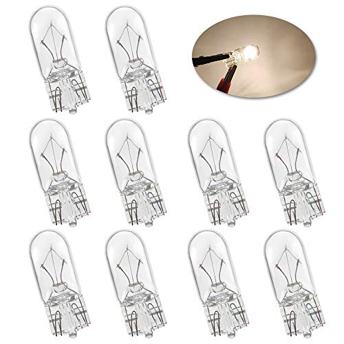 Miniatura estándar T10 W5W Bombillas halógenas blanco brillante 194 168 501 Luces de circulación diurna Fabricante lateral Luz del tablero de instrumentos Cola de freno Bombillas antiniebla-10PCS