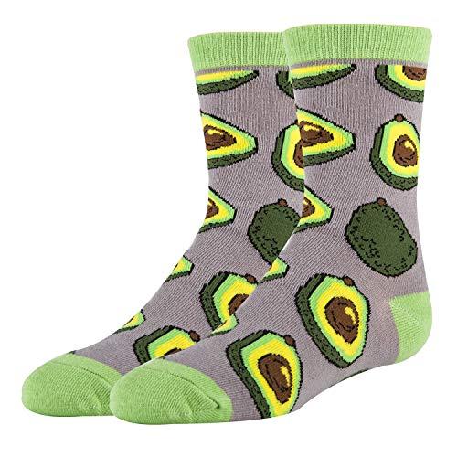 Oooh Yeah Youth Kids Crazy Funny Novertly Crew Socks (Avocado Life)