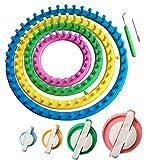 Juego de anillos para telares redondos Tmade, kit de manualidades para tejer calcetines, bufandas, gorros con 4 creadores de pompón