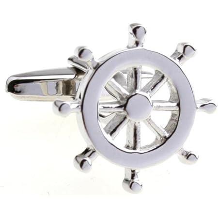 MRCUFF Anchors 4 Pairs Cufflinks in a Presentation Gift Box /& Polishing Cloth