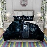 QWAS Doctor Who - Juego de ropa de cama infantil, funda de edredón para adolescentes, 3 piezas (L2,135 x 200 cm + 50 x 75 cm x 2)