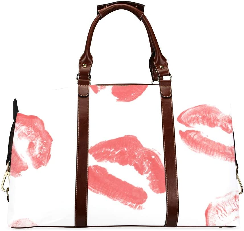 Carry On Duffel Bags Set Of Beautiful Lips Mail order cheap Classic Oversized Red Outlet ☆ Free Shipping