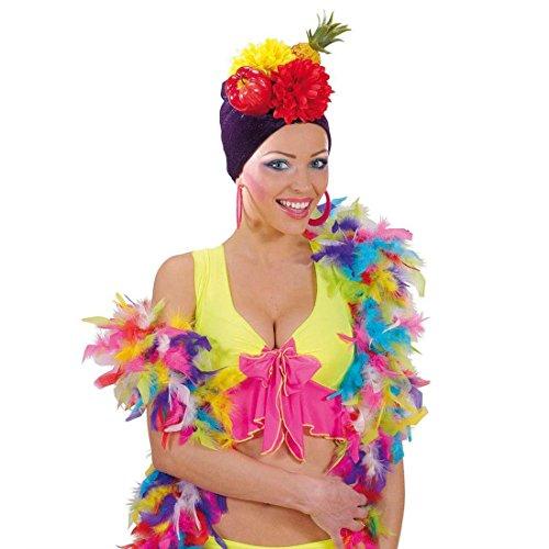 NET TOYS Boa à Plumes Multicolore étole à Plumes Longue 1,80 m boa Plume déco châle à Plumes Carnaval étole soirée châle Samba Accessoires déguisement Danseuse Rio