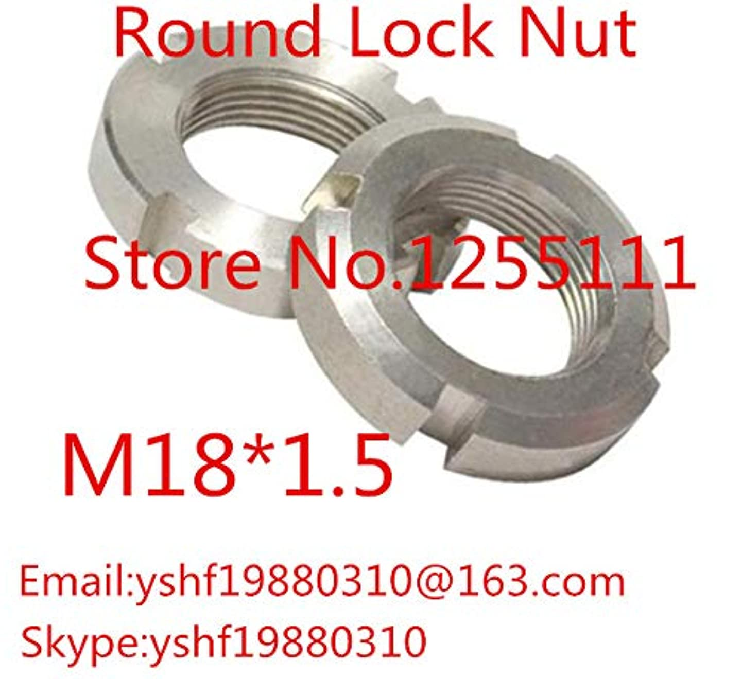 Nuts 2PCS M181.5 Stainless Steel Round nut 304 Four-Slot nut Slotted nut retaining nut