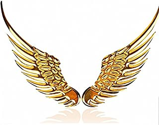 3D Personalized Car Stickers Metal Angel Wings Car Stickers Badge Wings Decoration Stickers For BMW Audi Ford Volkswagen Toyota Car Gold