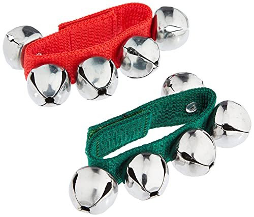 Fuzeau 8442 - Pulsera con 5 cascabeles, color verde/rojo 🔥