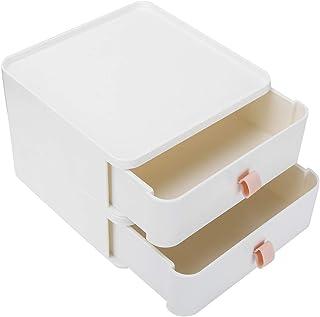 Organisateur de rangement de tiroir en plastique, Mini tiroir à 2 couches, bacs de rangement, tiroirs, tiroirs, conteneurs...