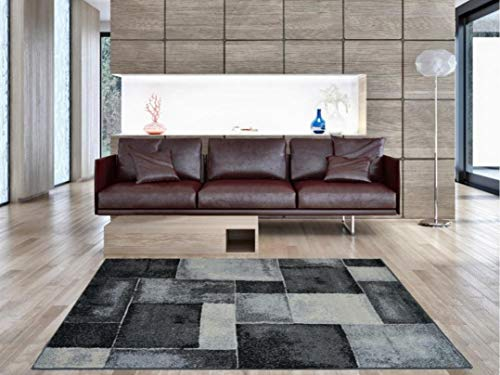 Aido , Alfombra -Infiniti Gris 160 x 230 cm – Alfombra salón – alfombras – Alfombra Cocina – alfombras de habitación.