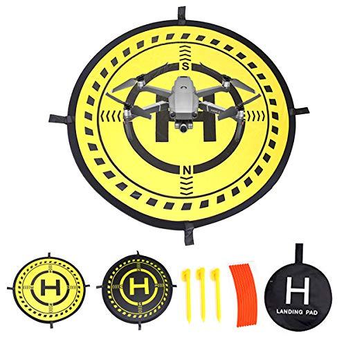 Fstop Labs 32 Inch Waterproof Collapsible Foldable Drone Landing Pad for DJI Tello Mavic 2 Zoom Mavic 2 Pro, Mavic Air Pro Platinum Phantom 3 4 Spark Accessories High Contrast