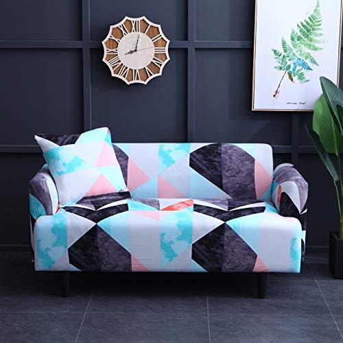 Funda de sofá a Cuadros Funda elástica Fundas de sofá para Sala de Estar Esquina sofá Toalla Funda de sofá Protector de Muebles A15 3 plazas