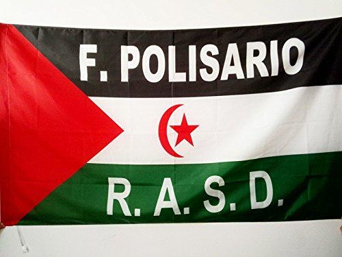 AZ FLAG Bandera de Sahara Occidental Libre 150x90cm para Palo - Bandera SAHARAUI Frente POLISARIO 90 x 150 cm