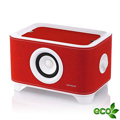 Sonoro Troy, mobiler Lautsprecher und Ladestation, weiß/rot