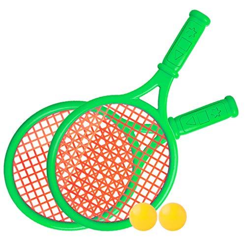 Yxiang Los niños plásticos de la Raqueta de Tenis juegan los Deportes al Aire Libre Interactivo Sistema de la Raqueta de Tenis del Juguete de la Playa (Verde)