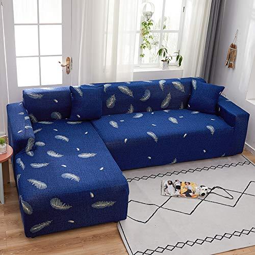 PPMP Funda de sofá elástica elástica, Utilizada para la Funda de sofá de Spandex de la Sala de Estar, Funda de sofá, Toalla de sofá elástica, Forma de L, Funda de sofá A3 de 4 plazas