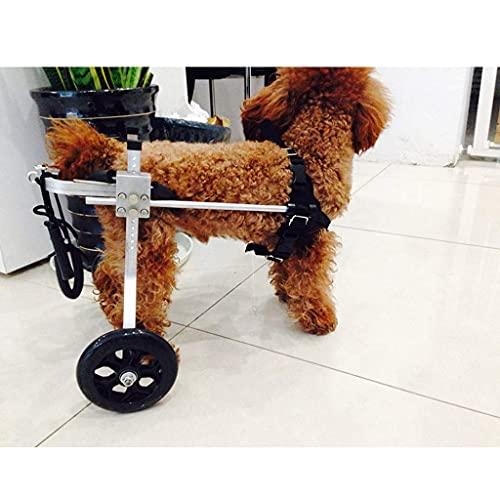 Silla de ruedas para perros, silla de ruedas para perros pequeños, rehabilitación de patas traseras, ruedas de ejercicio para animales pequeños, soporte para patas traseras para perros, arnés para ayu
